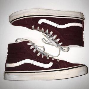 Vans Women's Sk8-HI Shoe (Burgundy)